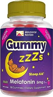 Gummy ZZZs Melatonin Sleep Aid, Gelatin-Free, Drug-Free, Vegetarian, Vegan-Friendly, Gluten-Free, Delicious Strawberry Fla...
