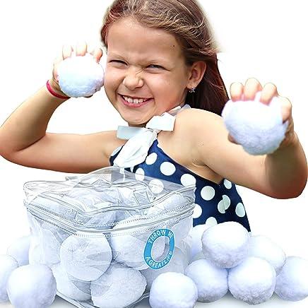Bolas de Nieve Artificial - Snowball Bajo Techo – Ten Horas de Diversión Con Este Paquete de Nieve En Cualquier Momento! Un Juguete Divertido Para Juegos y Actividades Que Nunca Se Derrite – Seguro Para Todas Las Edades