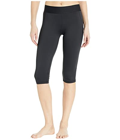 adidas Alphaskin Sport Capri Tights (Black/White) Women