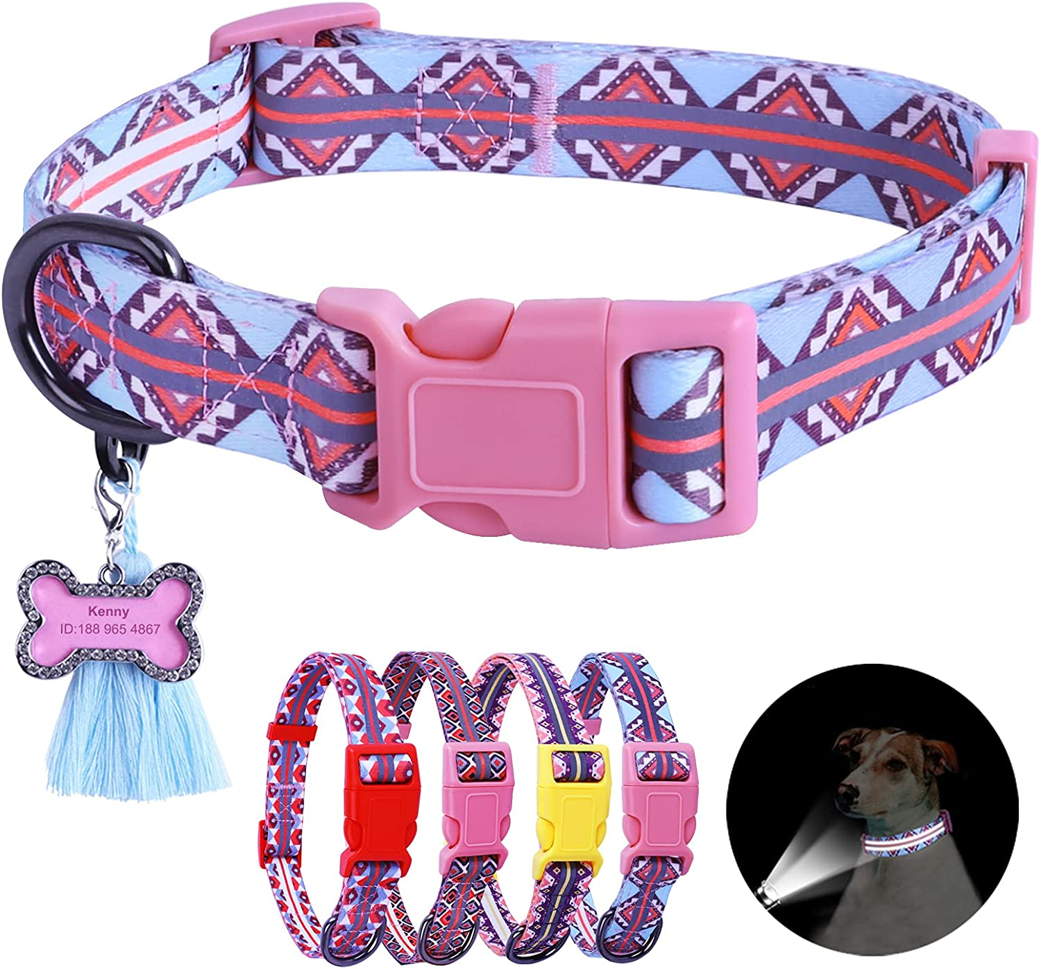 Osonm Reflective Dog Collar gift Ranking TOP16 with Adjust Reflection Double Lines