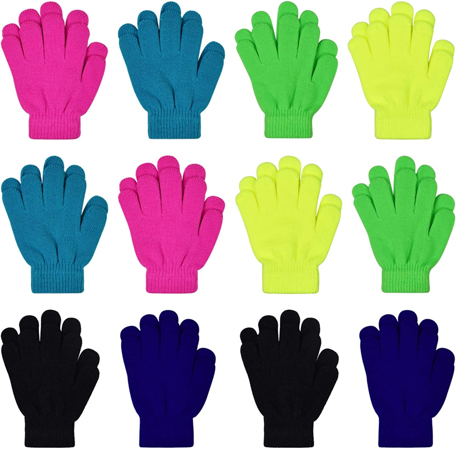 Kids Winter Over item handling ☆ Tampa Mall Magic Gloves 12 Children B Pairs Warm Stretchy