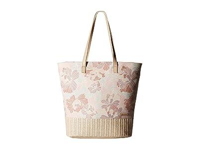 Sakroots Artist Circle Horizon Tote (Petal Pink Flower Blossom) Tote Handbags