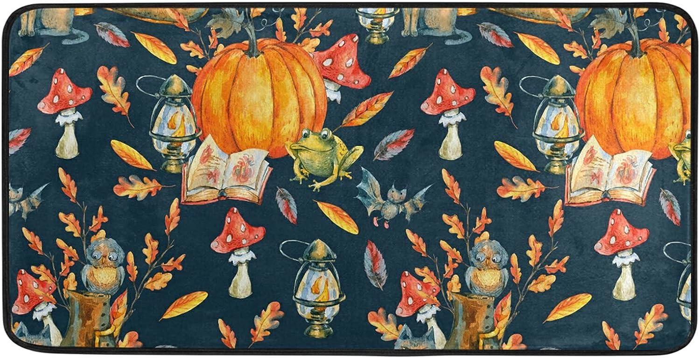 Fall Halloween Pumpkin Kitchen Rug Floor 20 Inch Mat 39 Anti Ranking TOP3 Atlanta Mall x