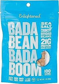 Enlightened Bada Bean Bada Boom Roasted Broad Bean Snacks, Sea Salt, 2 x 85 gm