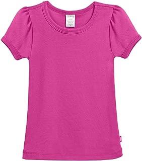 City Threads Girls' 100% Cotton Short Sleeve Puff Tee Tshirt for School & Play
