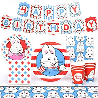 Max and Ruby Party Supplies (Standard) Party Pack, 66 Piece Set, by Prime Party