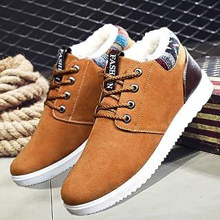 N-B Zapatos de nieve gruesos de terciopelo para hombre