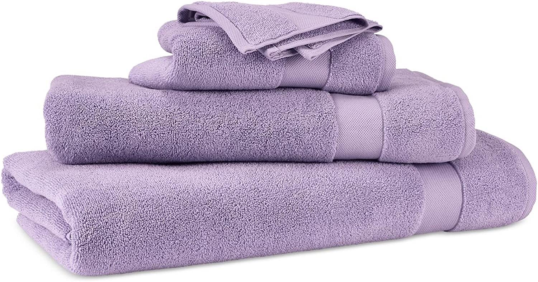 Lauren Ralph Lauren Wescott Duchess purplec Towel 6 Piece Set Bundle - 2 Bath Towels, 2 Hand Towels, 2 Washcloths