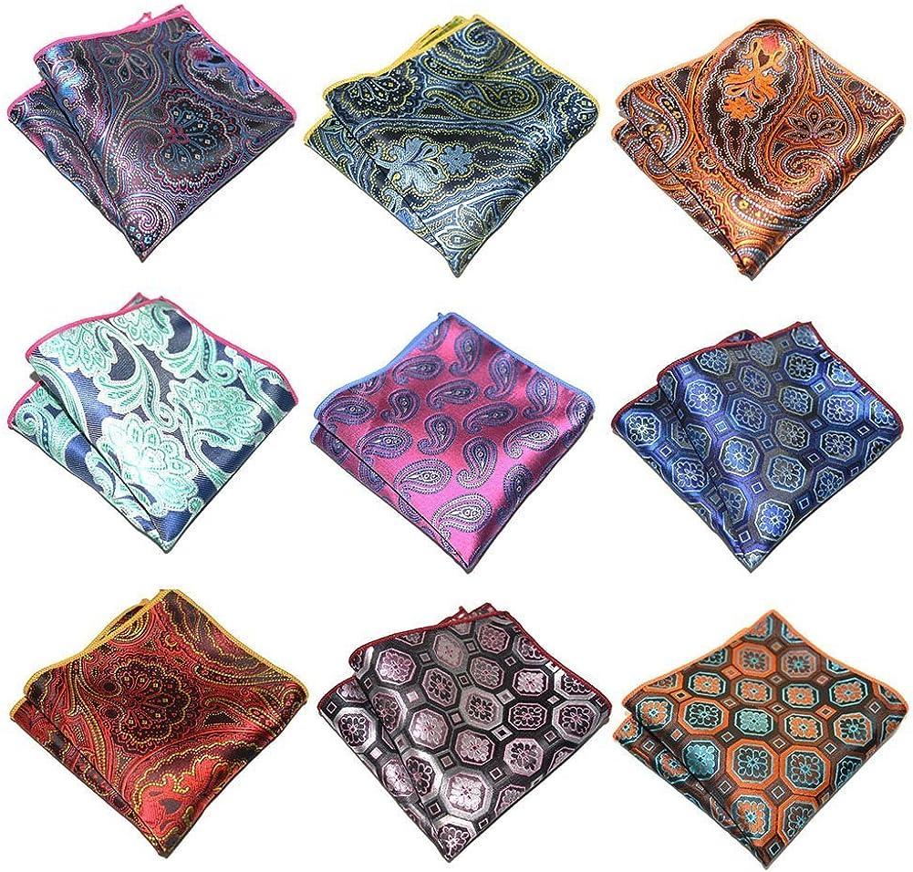 Cowboy Bandanas Mens Handkerchief 6 PK Wedding Party Pocket Squares