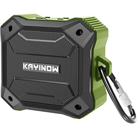 New Upgraded 5W IPX7 Waterproof Bluetooth Speaker Portable Vibrating Wireless Speaker Loud Stereo Sound, TWS Stereo Pairing, 12 Hours, Bluetooth 5.0, Built-in Mic for Outdoors