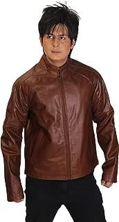 Men's Jack Reacher Tom Cruise Genuine Brown Cowhide Leather Jacket