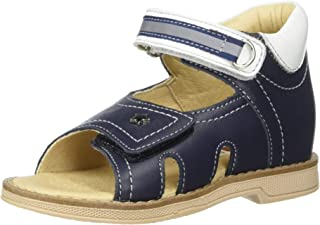 Orthopedic Kids Shoes for Boys and Girls - Twiki - Genuine Leather Sandals with 2 Fasteners, Non-Slip Amortizing Sole and Thomas Heel