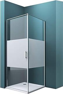 Mai /& Mai Cabine de douche en angle 75x75 portes de douche pivotantes auto-levantes pare douche paroi de douche RAV24K