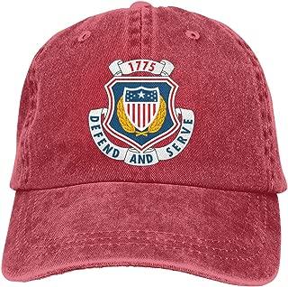 WANGTONG US Army - Adjutant General Corps Insignia Summer Cool Heat Shield Unisex Adult Cowboy Hat Denim Hats Dad Hat
