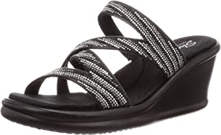 Skechers Rumblers Mega Flash Womens Wedge Slide Sandal