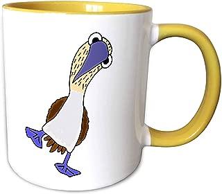 3dRose 260945_8 Mug, 11oz, Yellow/White