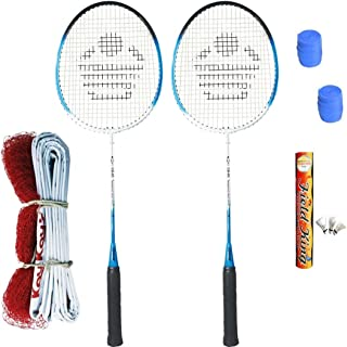 Cosco CB- 85 Badminton Kit (2 Rackets, 2 Grip,1 Fieldking Shuttlecock and 1 Badminton Net)