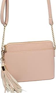 Pink Saffiano Karen Crossbody Bag