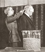 Woodrow Wilson (1856-1924) N28Th President Of The United States Wilson Blindfolded Drawing The First Capsule To Determine The Order Of The Third Draft Of Troops During World War I 30 September 1918 Po