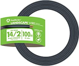 Southwire 55213243 14/2 Low Voltage Outdoor Landscape Lighting Cable, 100-Feet
