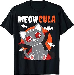 Meowcula Vampire Cat Dracula Vampirina Halloween Costume T-Shirt