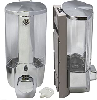 350ml Shower Shampoo Dispenser Wall Mount Soap Sanitizer Bathroom Washroom