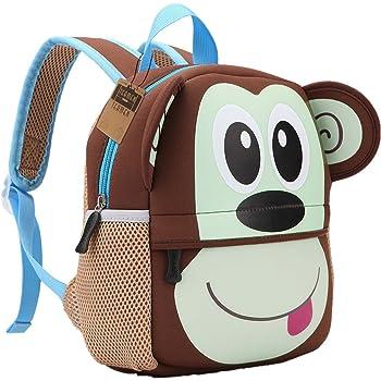 Children's Backpack, TEAMEN® Toddler Kids School Bag, Animal Design, Kinder Racksack for 2 5 Years Old(Monkey)