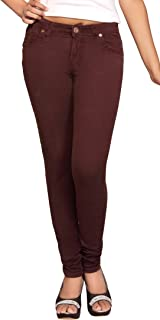 ADBUCKS Brown Stretchable Cotton Lycra Womens Jeans