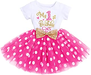 It's My 1st/2nd Birthday Outfit Toddler Baby E Party Tutu Dress for Kids Halloween Pageant Half/First Onesie Crown Infant ...