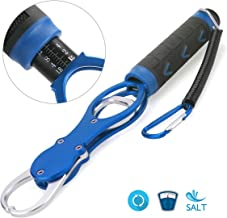 Ticoze Fish Gripper, Portable Fish Lip Gripper, Made from Rust-Proof Aluminum Alloy and TPR Handle, Blue