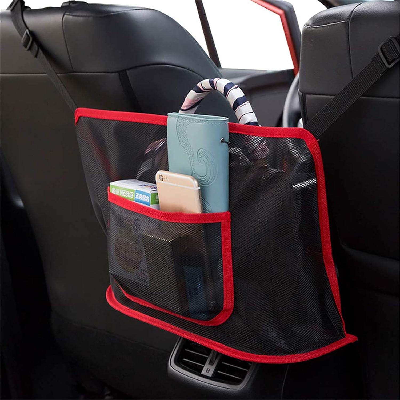 Car Net Pocket Handbag Holder for Purse Storage Phone Documents Pocket,Barrier of Backseat Pet Kids,Cargo Tissue Holder Black, Ordinary
