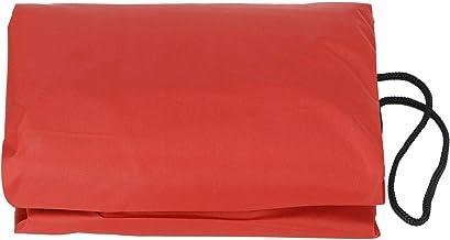 EVTSCAN Cubierta de Piscina, Cubierta de Caja de Arena, Caja de Arena Cuadrada Duradera para niños Cubierta Impermeable para Patio Trasero, Arena para Exteriores para jardín(120 * 120 * 20cm-Rojo)