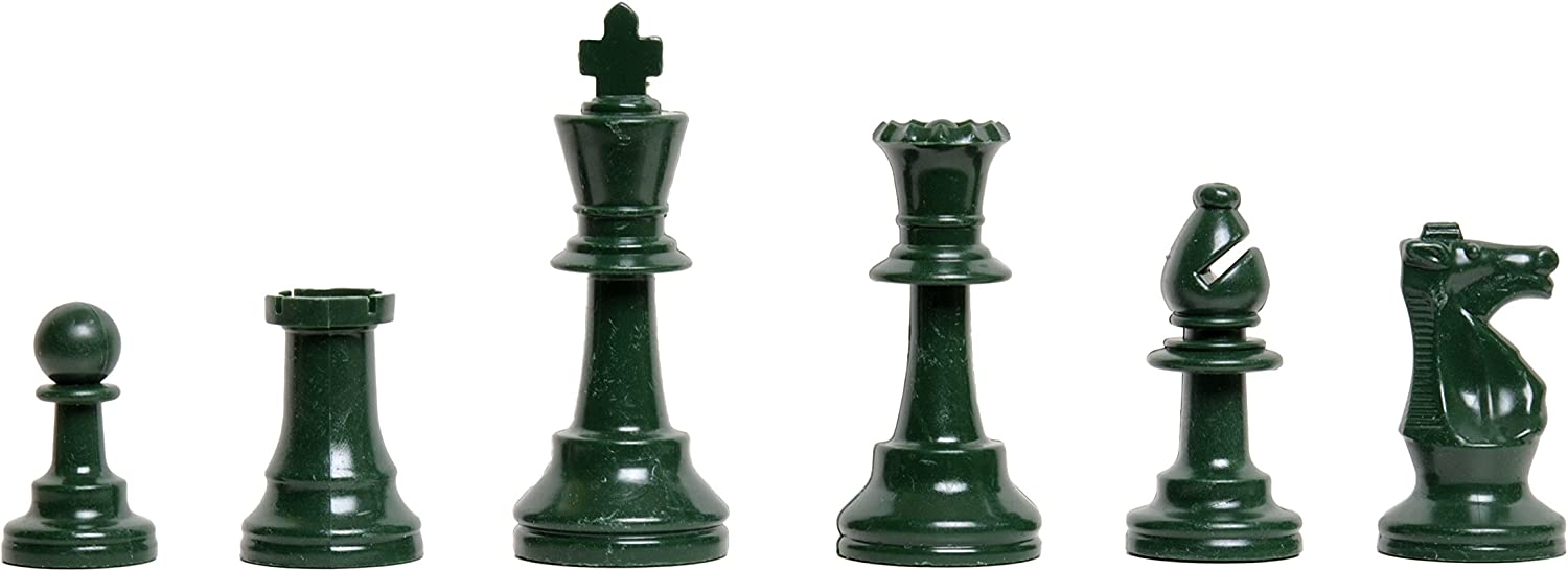 US Chess Federation colord Unweighted Regulation Plastic Chess Pieces  Half Army