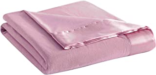 Thermee Micro Flannel Year-Round Sheet Blanket, Blush, Full/Queen