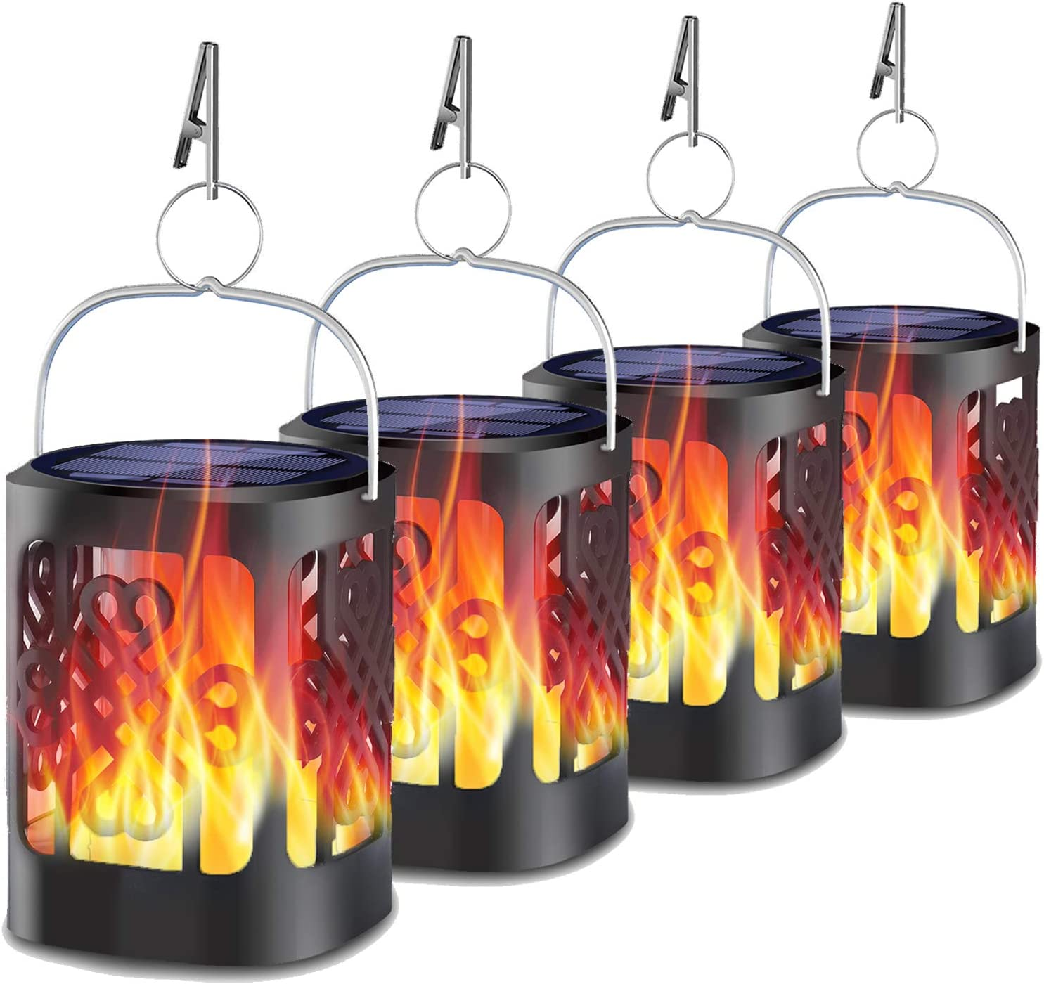 Today's only Upgraded Solar Lanterns Outdoor YoungPower Flam Dancing Hanging Max 67% OFF