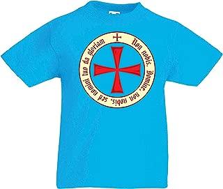 lepni.me Kids T-Shirt God Wills it! The Knight Templar Crusaders Red Cross