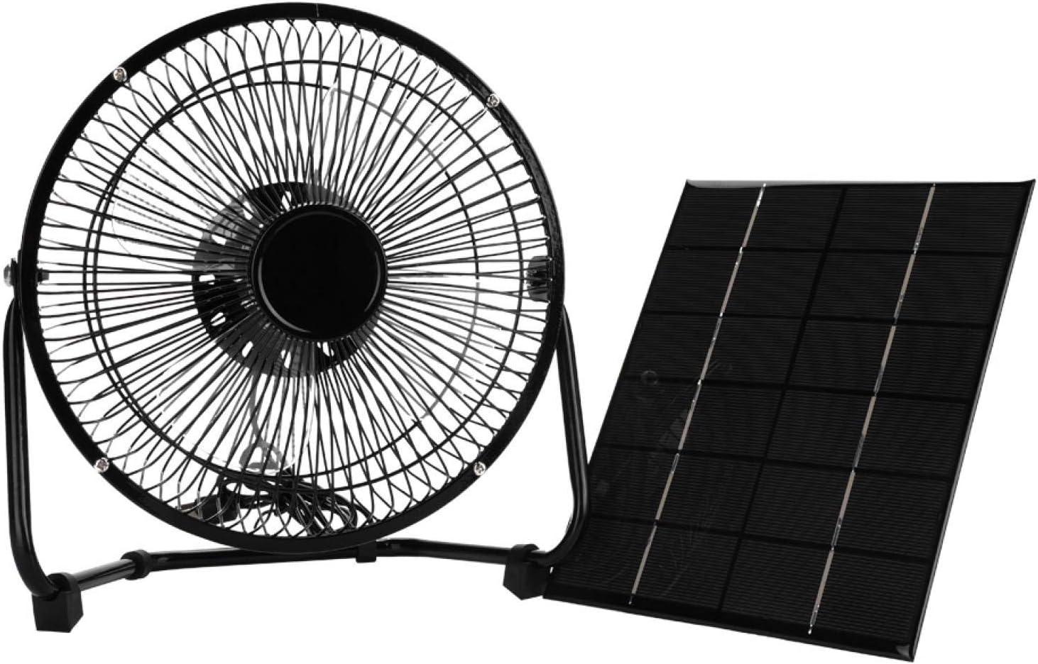 ventilador con placa solar