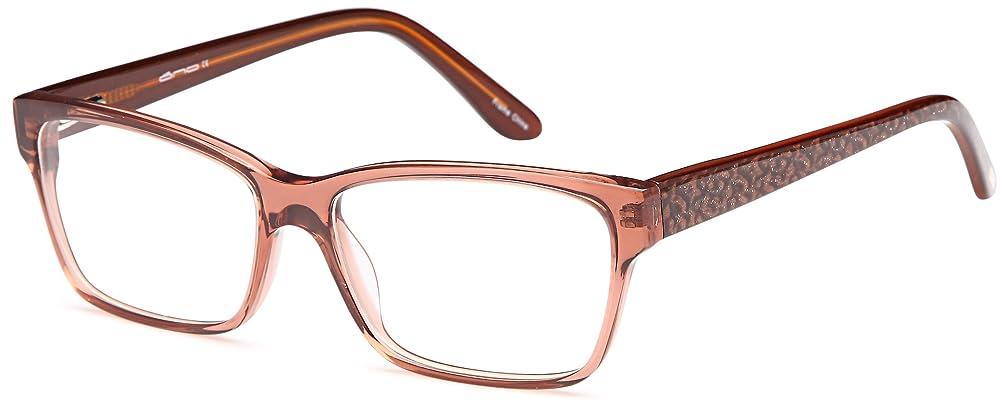DALIX Womens Square Prescription Ready Eye Frames 54-15-140 Black, Brown, Purple