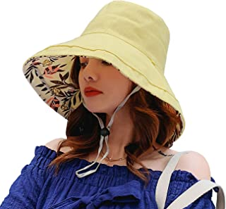 Double-sided Floral women's sunshade hat to shield from ultraviolet sunshine Wide-brimmed summer girls Beach Hat foldable/outdoor use