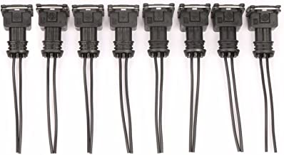 Set of 8 EV1 Style Fuel Injector Connector Wiring Plugs Clips Fit EV1 Pigtail Cut Splice