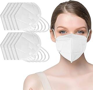 10 PCS Thick 4-Ply Face Shield, Reusable Filtration>95% - Anti-Fog, Dust-Proof Adjustable Headgear Full Face Protection with Nose Bridge Clip (10pcs) (10pcs)