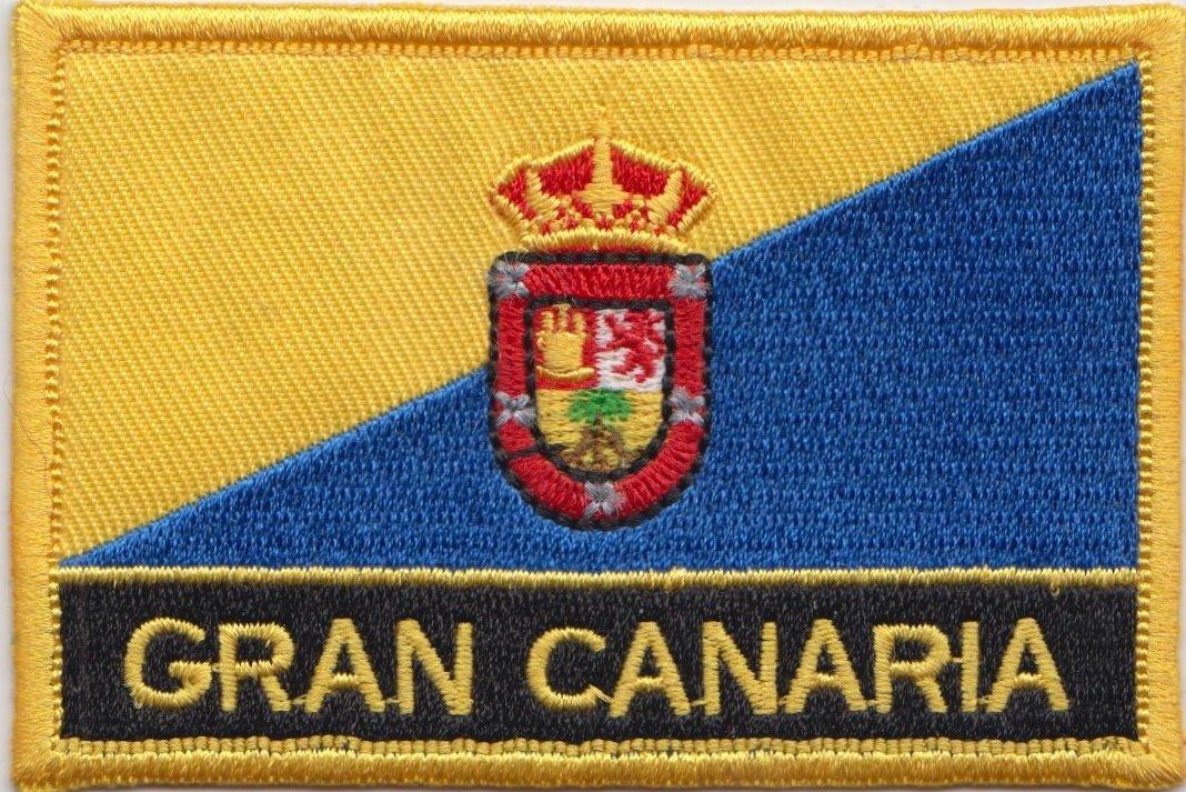 Gran Canaria Islas Canarias España bordar insignia Rectangular bandera: Amazon.es: Jardín