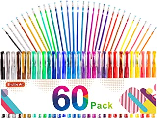 Gel Pens, 60 Pack Gel Pen Set 30 Colored Gel Pen with 30 Refills for Adults Coloring Books Drawing Doodling Crafts Scrapbo...