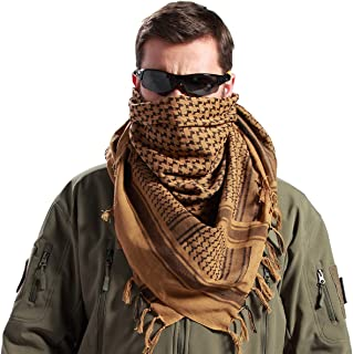 Tactical Olive Square Wrap,Desert Military 100/% Cotton, Neck Keffiyeh Premium Shemagh Tactical Scarf DonovanRR Sports