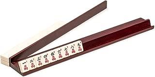 Yellow Mountain Imports Wooden Mahjong (Mah Jong, Mahjongg, Mah-Jongg, Mah Jongg, Majiang) Racks with Pushers, 18 Inches, Set of 4