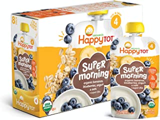 Happy Tot Organic Toddler Food Morning, Banana Blueberry, 4 oz (Pack of 8)