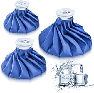 Ice Bag Packs of 3 – Reusable Hot & Cold Packs in 3 Sizes (6/9/11 inches)