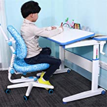 Children Desk and Chair Set Desk Chair Set Multi-Functional Desk and Chair Kids Study Table School Student Desk Book Stand...