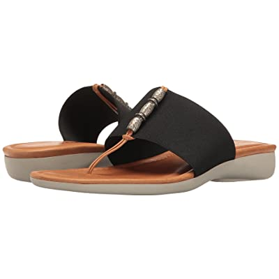 The FLEXX Rain Maker (Black Elastic/Cognac Vacchetta) Women