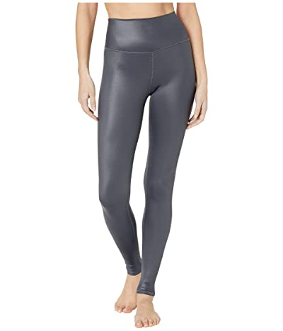 ALO High Waist Shine Airbrush Leggings (Anthracite) Women